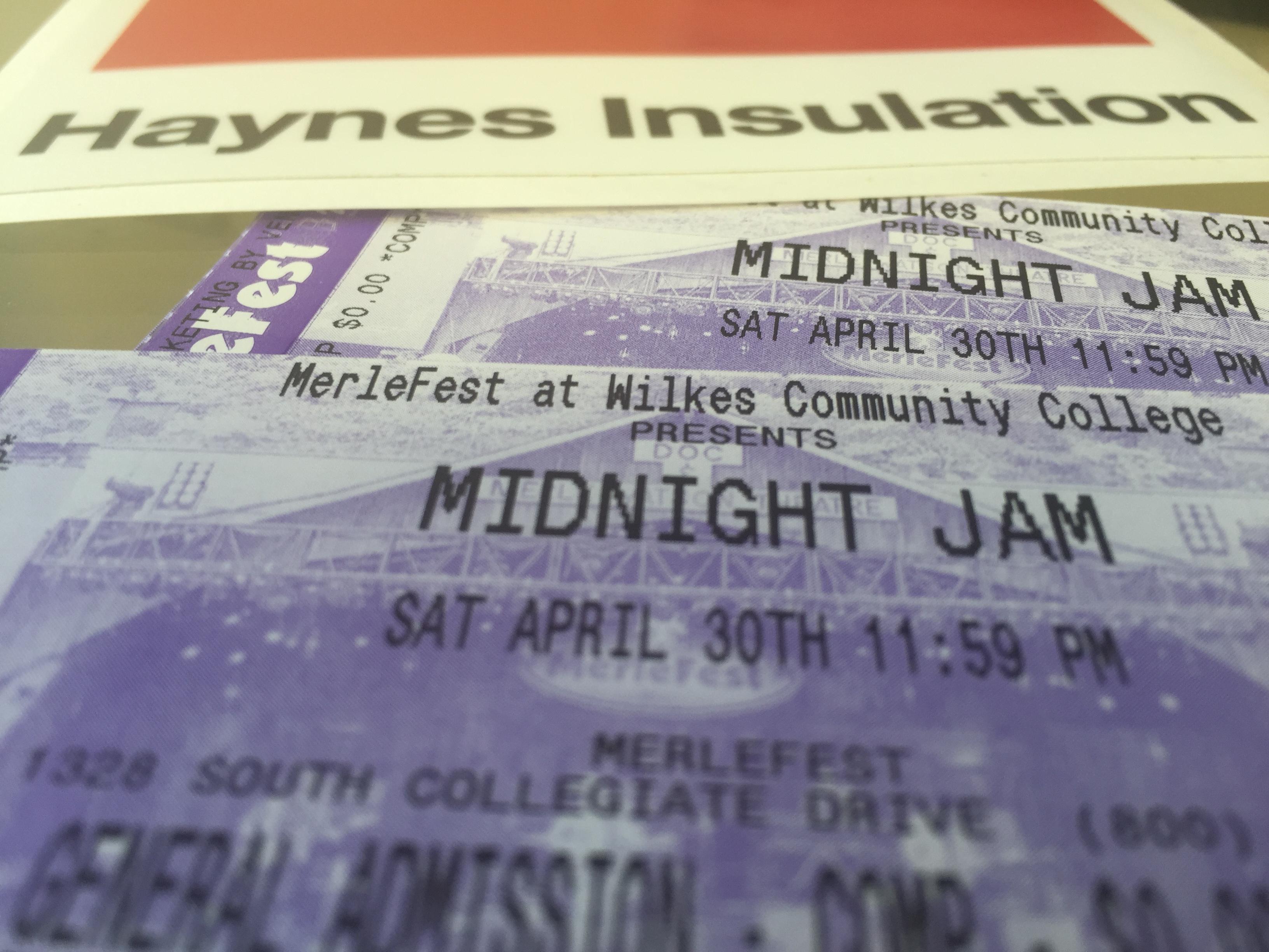 We gave away Midnight Jam Tickets!